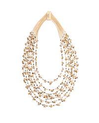 Rosantica By Michela Panero | Metallic Divina Quartz And Agate Necklace | Lyst