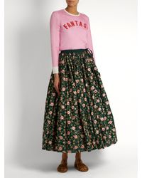 Ashish Green Floral Embroidered Skirt