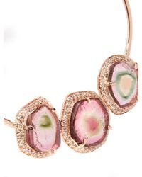 Jacquie Aiche | Pink Diamond, Tourmaline & Rose-gold Earrings | Lyst