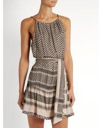 Cecilie Copenhagen - Multicolor Low-back Sleeveless Scarf-jacquard Dress - Lyst