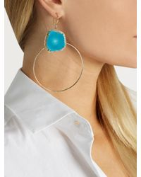 Jacquie Aiche | Blue Diamond, Turquoise & Yellow-gold Earrings | Lyst