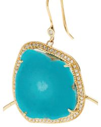 Jacquie Aiche - Blue Diamond, Turquoise & Yellow-gold Earrings - Lyst