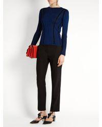 Diane von Furstenberg - Black Slim-leg Stretch-wool Trousers - Lyst