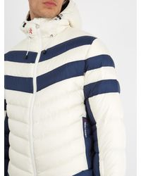 Perfect Moment Blue Chatel Chevron-panel Quilted-down Ski Jacket for men