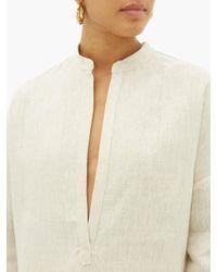 Albus Lumen アロイス オーバーサイズ リネンシャツ Multicolor