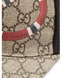 Gucci Multicolor Snake-print Cap for men