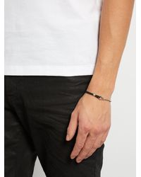Title Of Work - Metallic Leather And Sterling-silver Bracelet for Men - Lyst