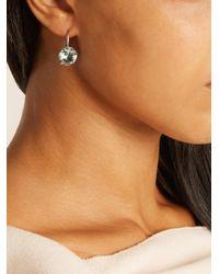 Bottega Veneta - Green Sterling-silver Drop Earrings - Lyst