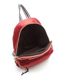 See By Chloé Andy Embroidered Satin Backpack