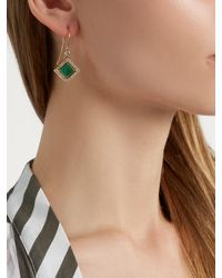 Jade Jagger Green Diamond, Emerald & Yellow-gold Earrings