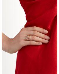 Delfina Delettrez | Metallic Diamond, Rhodolite, Pearl & Pink-gold Ring | Lyst
