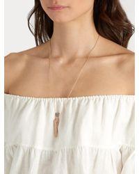Diane Kordas | Metallic Diamond & Rose-gold Amulette Necklace | Lyst