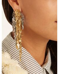 Loewe - Metallic Chain-drop Earring - Lyst