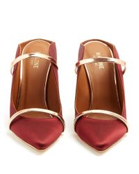 Malone Souliers | Red Maureen Satin Mules | Lyst