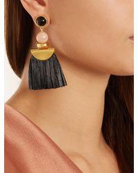 Lizzie Fortunato - Black Hula Ii Fringe-drop Earrings - Lyst