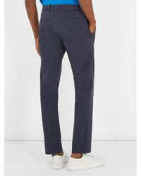 Sørensen Blue Driver Stretch-cotton Twill Chino Trousers for men