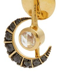 Ara Vartanian - Black X Kate Moss Diamond & Gold Earrings - Lyst