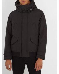 Woolrich Black Polar Down Bomber Jacket for men
