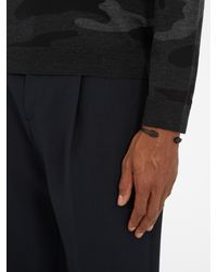 Alexander McQueen - Black Double Skull Cuff for Men - Lyst