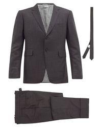 メンズ Thom Browne ウール シングルスーツ&タイ Multicolor