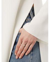 Delfina Delettrez - Metallic Double-pearl Yellow-gold Ring - Lyst