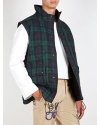 Burberry - Multicolor Reversible Tartan Quilted-cotton Gilet for Men - Lyst