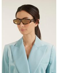 Marques'Almeida - Multicolor Angular Frame Sunglasses - Lyst