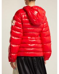4 MONCLER SIMONE ROCHA Red Lolly Quilted-down Jacket