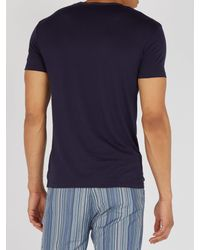Paul Smith Blue Crew Neck Cotton Pyjama Top for men