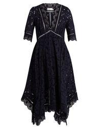 Zimmermann - Black Mariso Broderie-anglaise Dress - Lyst