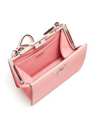Prada Pink Frame Leather Bag