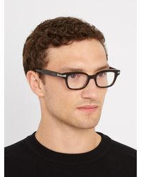 Gucci Brown Rectangle-frame Acetate Glasses for men