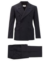 メンズ Maison Margiela コットンツイル ダブルスーツ Blue