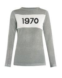 Bella Freud 1970 インターシャニット セーター Gray