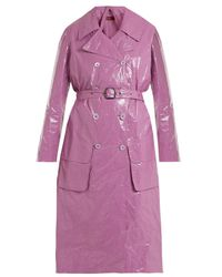 Sies Marjan Pink Bessie Crinkled-vinyl Trench Coat