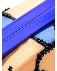 Sarah's Bag Blue The Kiss Bead-embellished Clutch