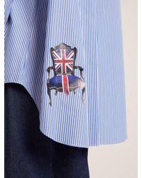 Junya Watanabe - Blue Oversized Striped Cotton-poplin Shirt - Lyst