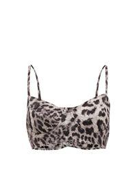 Norma Kamali Multicolor Leopard-print Underwired Bikini Top