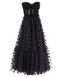 Dolce & Gabbana フロックポルカドット チュールドレス Black