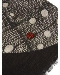 Carré pour pochette en coton mélangé à perles Title Of Work pour homme en coloris Black