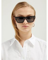 Céline Black Angular D Frame Acetate Sunglasses