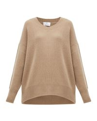 Allude Brown Cashmere Sweater