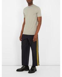 Maison Margiela - Multicolor Contrast-neckline Cotton T-shirt for Men - Lyst