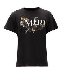 メンズ Amiri イーグル コットンtシャツ Black