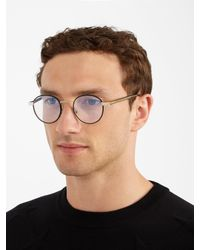 Saint Laurent Brown Round-frame Tortoiseshell Glasses for men