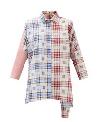 Marques'Almeida アップサイクル チェックコットンシャツ Multicolor