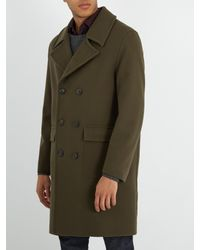 Mackintosh Green Double-breasted Wool Coat for men