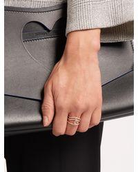 Diane Kordas - Metallic Diamond, Prasiolite & Rose-gold Cosmos Ring - Lyst