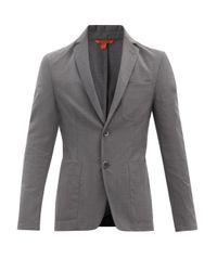 メンズ Barena ボルゴ ウールツイル シングルジャケット Gray