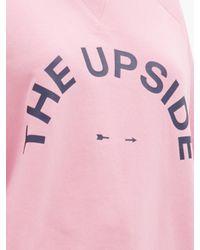 The Upside ボンディ コットンスウェットシャツ Pink